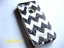 Custom glitter Otterbox Commuter iphone 5s Case Sparkly chevron