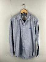 Nouveau Men's Long Sleeve Shirt - Size 2XL - Blue