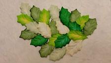 50 paper HOLLY LEAVES 43mm MPL34A Greens Art Craft Scrapbook Card embellishment