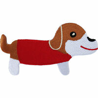Dachshund Patch Sausage Dog Badge Embroidered Iron / Sew On Clothes Jacket Coat