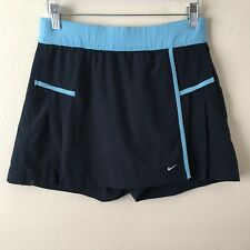 Nike Dry Fit Women Junior's Size Large Vintage Blue Tennis Skirt Skort