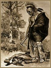 PAINTINGS DRAWING PONTIAC OTTAWA CHIEF NATIVE AMERICAN DEATH WARRIOR LV3072