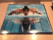 MICHAEL PHELPS Olympic Gold Swimmer SIGNED Autographed 16x20 Photo PHELPS HOLO