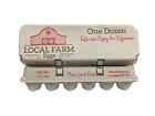 12-egg Red Barn generic design egg cartons - 140 units