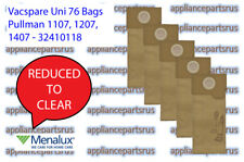 Vacspare Uni 76 Bags for Pullman 1107 1207 1407 - Pack of 5 - 32410118 - REDUCED