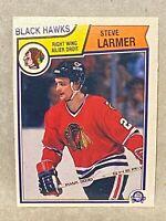 1983-84 O-Pee-Chee OPC  Steve Larmer ROOKIE CARD RC #105