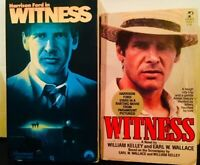 Witness 1985 film (VHS and Movie Tie-In Paperback) Harrison Ford Mystery/Action