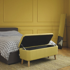 JACOBS Saffron Yellow Upholstered Storage Bench ***RRP £250***
