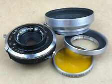 """Wollensak 3-1/2"""" Inch 90mm F/6.8 Raptar Wide Angle Yellow Dot Large Format Lens"""
