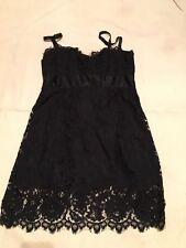 Nanette Lepore Black Lace Mini Dress Size 4