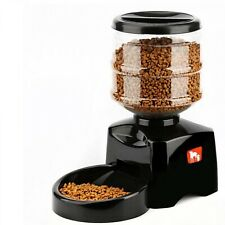 Automatic Pet Feeder Programmable Timer Food Dispenser Container For Dog Black