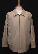"Brook Taverner men's khaki cotton blend windcheater harrington jacket 44"" 112cm"