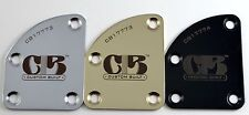 """Custom Built"" Dark Laser Engraved Cutaway Contour Heel Neck Plate"