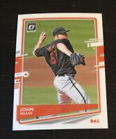 John Means 2020 Donruss Optic #189 Baltimore Orioles