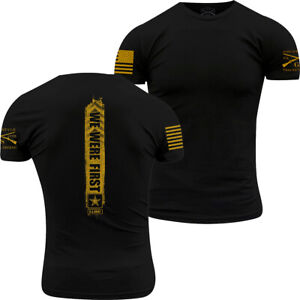 Grunt Style Army - We Were First T-Shirt - Gold Ink
