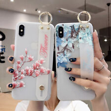 Fruit And Flowers Wristband Soft Phone Case Cover For iPhone Max X XR Xs 6s 7 8