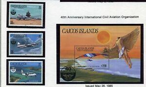 CAICOS ISLANDS   MNH   70-73   Intl Civil Aviation   CC191