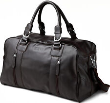 Men's Unisex Leather Duffle Travel Gym Bag Tote Luggage Shoulder Bag Carry On