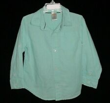 EUC Gymboree Boys SPRING DRESSY Tiffany Blue Button Down Dress Shirt Size 3T HTF