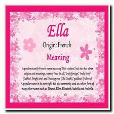 ELLA Personalised Name Meaning Coaster