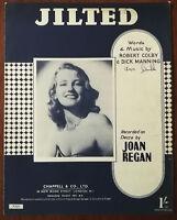 Joan Regan – Jilted by Robert Colby & Dick Manning – Pub. 1945