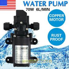 12v 70w Water Pump Pressure Self Priming For Caravan Camping Boat Trailer Auto