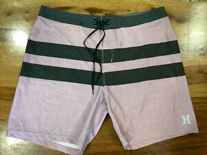 Hurley Phantom Boardshorts Men's 36 Purple/Black Stripes 🌴 Mint Condition 1746