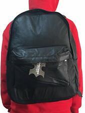 Genuine Cowhide Men's Women's Leather Backpack Travel Rucksack School Laptop Bag