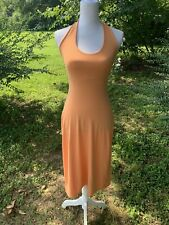 Susana Monaco Maxi Bandeau Tank Dress Size Medium Orange Sleeveless Long Dress