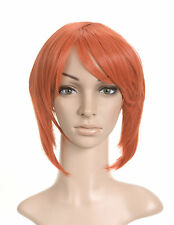 Bright Orange Layered Short Length Cosplay Costume Wig