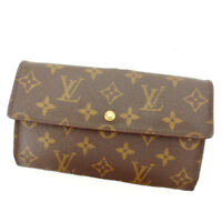 Louis Vuitton Wallet Purse Long Wallet Monogram Brown Woman Authentic Used Y5512