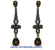 Brandy Diamond® & Brandy® Topaz Chocolate Brown 10K Gold Fabulous Earrings 1.62C