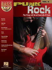 """Punk Rock"" Bass Play-Along Volume 8 Music Book/Cd-Brand New On Sale Songbook!"