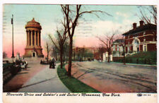 New York's Riverside Drive 1910 post card, Monument