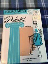 1 Pair Vintage Pedestal mesh 9 sugar beige garter stockings