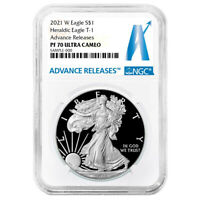 2021-W Proof $1 American Silver Eagle NGC PF70UC AR Advanced Releases Label