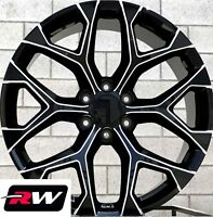 "20"" inch 20 x9"" Wheels for Chevy Avalanche Black Milled Rims CK156"