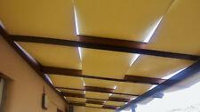 Telo copertura tettoia gazebo pergole in pvc o tessuto parà impermeabile a onda