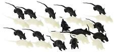 24 kleine eklige Deko Mäuse Halloween Maus leuchtet im Dunkeln fluoreszierend