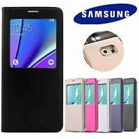 Luxury Leather S-View Wallet Flip Case Cover for Samsung Galaxy S8 S9 + Plus