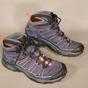 Salomon X Ultra 2 Mid GTX Hiking Boots - Women's US 9 - Gore-Tex - Gray Purple