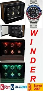 Luxury Display Automatic Watch Winder for 6 watches; model: Chrono Valet-6 LED