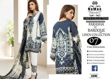 REPLICA BAROQUE NAVY STITCHED READY-MADE LINEN WINTER SALWAR KAMEEZ 3 PS SUIT 07