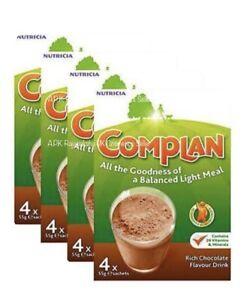 4 x Complan Chocolate Nutrition Vitamin Protein Supplement Energy Drink 4x55g