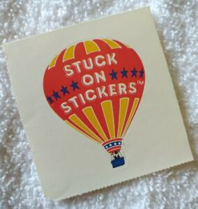 Vintage 80s Scholastic Stuck on Stickers hot air balloon