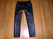 Vince woo& leather combiantion pants, Size S
