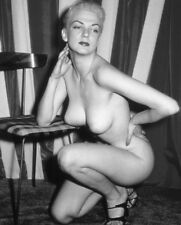 Vtg 1960's Photo Girl Pinup Naughty Topless Perky Hanger Tits Risque #1319
