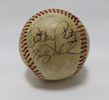 Rick Peters Bobby Meachum Stan Javier Autographed Signed Vintage Baseball