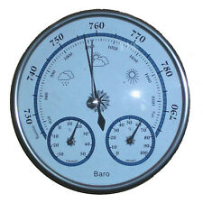 3 in 1 Aneroid Barometer Hygrometer Thermometer Wheather Meters Aluminum Case