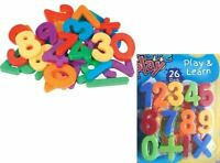 MAGNETIC NUMBERS SYMBOLS FRIDGE MAGNETS MATHS 26 PCS
